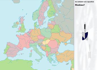 juego situar pais europa: